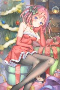 Rating: Questionable Score: 33 Tags: 5-toubun_no_hanayome cha_chya christmas cleavage dress nakano_nino pantyhose User: yanis