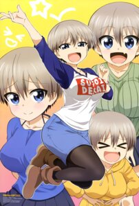 Rating: Safe Score: 25 Tags: maki_marina pantyhose sweater uzaki-chan_wa_asobi_tai! uzaki_hana User: drop