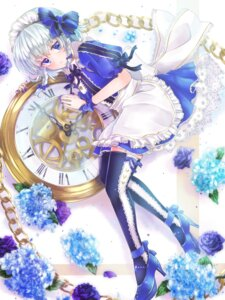 Rating: Safe Score: 35 Tags: akino_rishian heels izayoi_sakuya maid thighhighs touhou User: Mr_GT