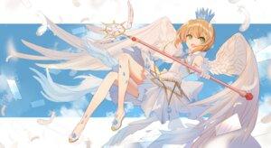 Rating: Safe Score: 34 Tags: bison card_captor_sakura dress kinomoto_sakura weapon wings User: Mr_GT