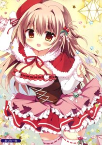 Rating: Safe Score: 53 Tags: azumi_kazuki christmas cleavage thighhighs User: Twinsenzw
