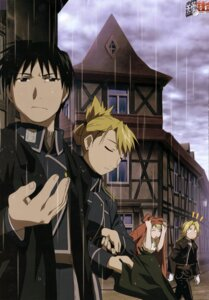 Rating: Safe Score: 13 Tags: edward_elric fullmetal_alchemist riza_hawkeye roy_mustang winry_rockbell User: charunetra