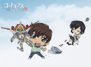 Rating: Safe Score: 6 Tags: chibi code_geass kururugi_suzaku lelouch_lamperouge male mecha User: Aurelia