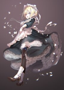 Rating: Safe Score: 32 Tags: elf heels maid pointy_ears pottsness skirt_lift thighhighs User: lounger