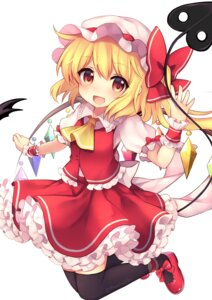 Rating: Safe Score: 30 Tags: flandre_scarlet ruhika thighhighs touhou wings User: Mr_GT