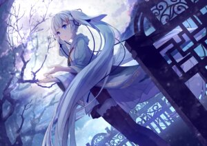 Rating: Safe Score: 98 Tags: hatsune_miku japanese_clothes thighhighs vocaloid yue_yue yuki_miku User: Mr_GT