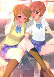 Rating: Safe Score: 18 Tags: hoshizora_rin koizumi_hanayo love_live! seifuku skirt_lift sweater turbo_engine_(rakugaki_tabo) User: yanis