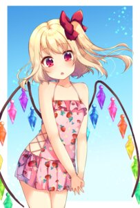 Rating: Safe Score: 48 Tags: flandre_scarlet suzu_(minagi) swimsuits touhou wings User: Mr_GT