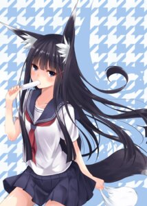 Rating: Safe Score: 37 Tags: animal_ears kitsune second_heaven seifuku tail User: fairyren