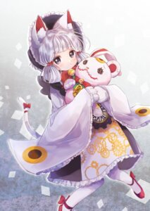 Rating: Safe Score: 15 Tags: #compass animal_ears japanese_clothes neko nekomimi rukako tail User: Mr_GT