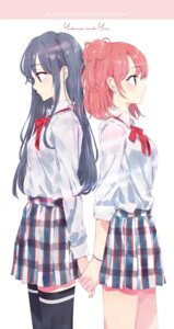 Rating: Safe Score: 47 Tags: ponkan_8 seifuku thighhighs yahari_ore_no_seishun_lovecome_wa_machigatteiru. yuigahama_yui yukinoshita_yukino yuri User: kiyoe