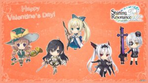 Rating: Safe Score: 17 Tags: armor chibi chinadress cleavage excela_noa_aura eyepatch japanese_clothes kirika_towa_alma marion_le_sheila pointy_ears rinna_mayfield sega shining_resonance shining_world sonia_branche sword tagme thighhighs uniform wallpaper weapon witch User: Nepcoheart