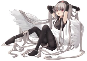 Rating: Questionable Score: 23 Tags: angel feet nurse pantyhose paryi skirt_lift wings User: BattlequeenYume