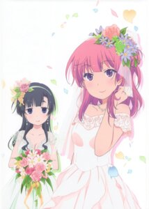 Rating: Safe Score: 43 Tags: akishino_himeka dress fuyuumi_ai ore_no_kanojo_to_osananajimi_ga_shuraba_sugiru wedding_dress User: addddd