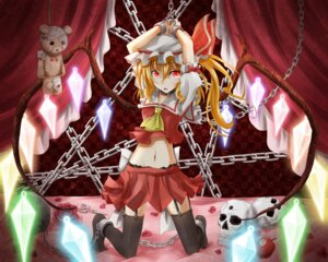 Rating: Questionable Score: 32 Tags: bondage flandre_scarlet flask garter_belt stockings thighhighs touhou User: SlenderMan