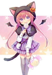 Rating: Safe Score: 36 Tags: halloween mani tail thighhighs wings User: fairyren