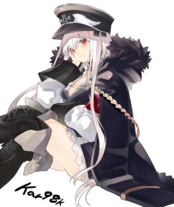 Rating: Safe Score: 36 Tags: cleavage girls_frontline kar98k_(girls_frontline) kou_mashiro thighhighs uniform User: kiyoe