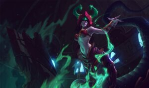 Rating: Questionable Score: 4 Tags: armor bikini_top horns league_of_legends monster_girl tagme tail User: Radioactive