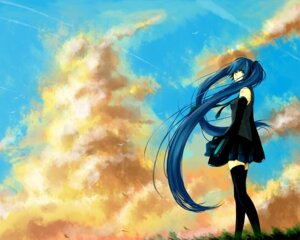 Rating: Safe Score: 11 Tags: hatsune_miku photoshop thighhighs todorokisora vocaloid wallpaper User: Radioactive