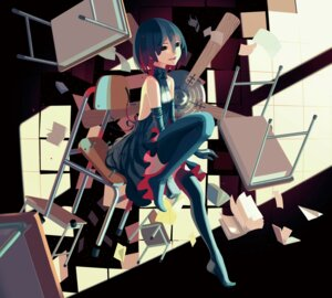 Rating: Safe Score: 34 Tags: bakemonogatari dress monogatari_(series) no_bra oshino_ougi owarimonogatari thighhighs vofan User: 0ptima