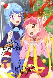 Rating: Safe Score: 16 Tags: aikatsu_friends! autographed christmas minato_mio ookawa_takahiro yuuki_aine User: drop