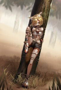 Rating: Explicit Score: 34 Tags: animal_ears arknights blood bondage shinebell tail torn_clothes vermeil_(arknights) User: Dreista