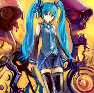 Rating: Safe Score: 20 Tags: conjaku hatsune_miku thighhighs vocaloid User: Rhekshi-Ehki