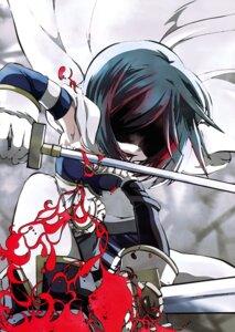 Rating: Safe Score: 6 Tags: miki_sayaka mura_chloe puella_magi_madoka_magica sword User: Hatsukoi