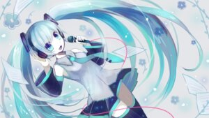 Rating: Safe Score: 25 Tags: hatsune_miku headphones kohaku_muro thighhighs vocaloid wallpaper User: charunetra