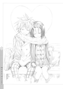 Rating: Safe Score: 37 Tags: monochrome sairenji_haruna seifuku sketch to_love_ru to_love_ru_darkness yabuki_kentarou yuuki_rito User: Twinsenzw