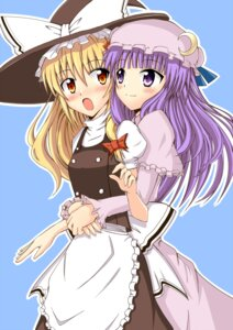 Rating: Safe Score: 17 Tags: aikawa_ryou kirisame_marisa patchouli_knowledge touhou witch yuri User: Radioactive