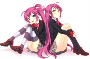 Rating: Safe Score: 45 Tags: futaki_kanata little_busters! peach saigusa_haruka seifuku thighhighs User: fairyren