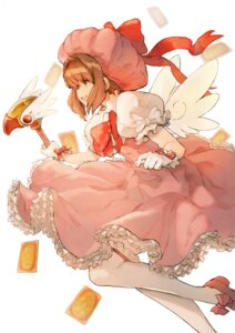 Rating: Safe Score: 26 Tags: card_captor_sakura dress kinomoto_sakura nuko-d thighhighs weapon wings User: Mr_GT