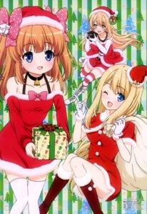 Rating: Questionable Score: 43 Tags: chloe_lemaire christmas cleavage dress girlfriend_(kari) heels mochizuki_erena thighhighs tsutsumitani_noriko yuuki_nae User: drop