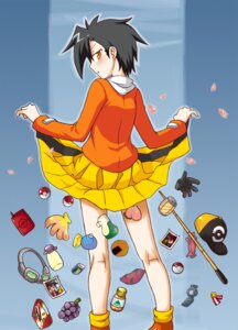 Rating: Safe Score: 8 Tags: bakemonogatari crossdress hibiki_(pokemon) kurohagi_ryou male parody pokemon skirt_lift User: Radioactive