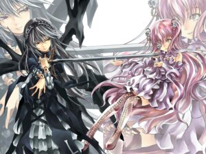 Rating: Safe Score: 13 Tags: kirakishou lolita_fashion raid_slash rozen_maiden suigintou wallpaper User: Radioactive