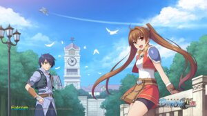 Rating: Safe Score: 11 Tags: bike_shorts eiyuu_densetsu eiyuu_densetsu:_sora_no_kiseki estelle_bright falcom joshua_bright wallpaper User: aluter