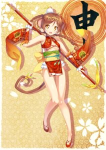 Rating: Questionable Score: 13 Tags: animal_ears asian_clothes ichi_makoto no_bra tail weapon User: Mr_GT