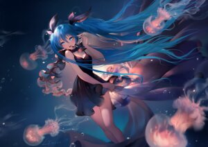 Rating: Safe Score: 95 Tags: cleavage dress hatsune_miku lian_yao shinkai_shoujo_(vocaloid) vocaloid User: Mr_GT