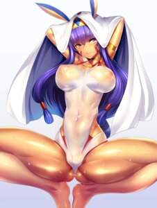 Rating: Questionable Score: 71 Tags: cameltoe erect_nipples fate/grand_order nitocris_(fate/grand_order) see_through silly swimsuits wet User: mash