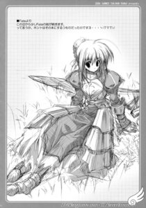 Rating: Safe Score: 6 Tags: fate/stay_night monochrome saber sketch tsukinon User: midzki