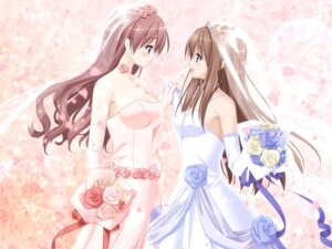 Rating: Safe Score: 64 Tags: cleavage dress fuguriya game_cg kitajima_kaede kitajima_sara peco sono_hanabira_ni_kuchizuke_wo wedding_dress yuri User: Ecchineko