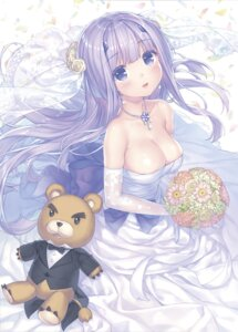 Rating: Safe Score: 55 Tags: cleavage dress inia_sestina muvluv muvluv_alternative no_bra sayori total_eclipse wedding_dress User: BIack99