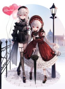 Rating: Safe Score: 20 Tags: abandon_ranka fishnets garter gothic_lolita heels lolita_fashion stockings thighhighs trap umbrella User: Mr_GT