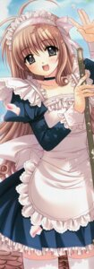 Rating: Safe Score: 28 Tags: fuyou_momiji maid nishimata_aoi shuffle stick_poster thighhighs User: syaoran-kun