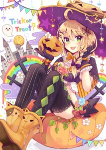 Rating: Safe Score: 48 Tags: cleavage halloween pantsu sakura_oriko thighhighs witch User: Mr_GT