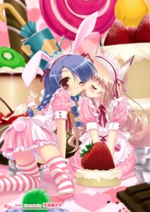 Rating: Safe Score: 35 Tags: amarugi_sachi animal_ears bunny_ears cream dress thighhighs User: Hatsukoi