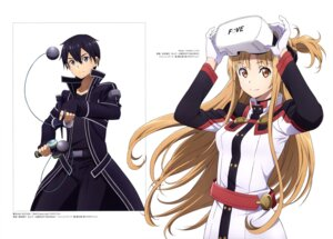 Rating: Safe Score: 22 Tags: asai_seiko asuna_(sword_art_online) kimura_masahiro kirito sword_art_online uniform User: drop