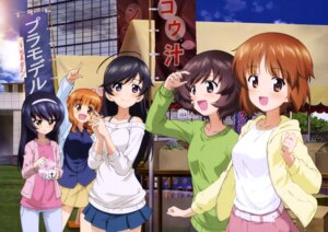Rating: Safe Score: 17 Tags: akiyama_yukari girls_und_panzer isuzu_hana nishizumi_miho reizei_mako sweater takebe_saori User: drop