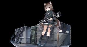 Rating: Safe Score: 10 Tags: animal_ears fuyuki030 garter gun nekomimi seifuku User: sym455